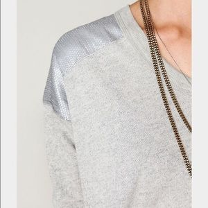 Free People Tops - FREE PEOPLE XS SEQUIN SHOULDER PULLOVER